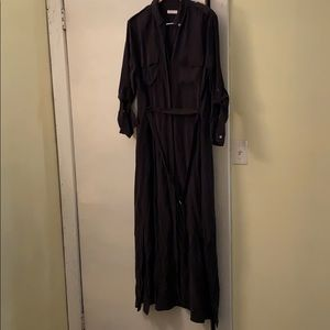 Equipment 💯Beautiful Black Silk Dress NeverUsed